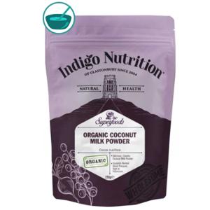 Indigo Herbs Organic Coconut Milk Powder, kokosové mléko v prášku, 250 g GB-ORG-04 certifikát