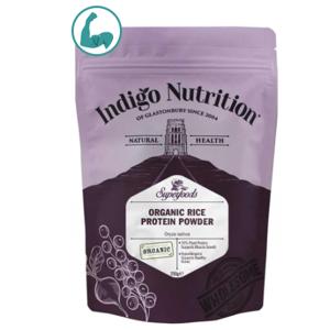 Indigo Herbs Organic Rice Protein Powder, Organický Rýžový Protein, 500g GB-ORG-04 certifikát, Expirace 4/2021