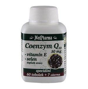 Medpharma Coenzym Q10 30 mg + vitamín E + selen 67 tobolek