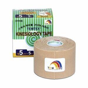 TEMTEX Kinesio tape 5 cm x 5 m tejpovací páska béžová