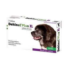 Dehinel Plus XL Tablety pro psy 2 tablety