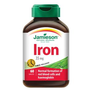 Jamieson Železo s postupným uvolňováním 35 mg 60 tablet