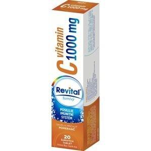 Revital Vitamin C 1000 mg pomeranč 20 šumivých tablet