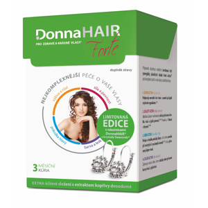 Donna Hair FORTE 3 měsíční kúra 90 tobolek + náušnice Swarovski Elements