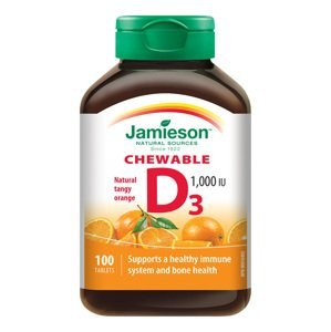 Jamieson Vitamin D3 1000 IU pomeranč 100 cucacích tablet