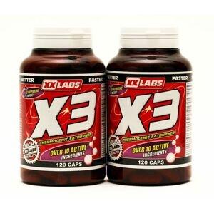Xxlabs X3 Thermogenic Fat Burner 120+120 kapslí