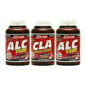 Xxlabs CLA 60 tobolek + ALC 60 kapslí + ALC 60 kapslí