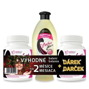 Nutricius Perfect HAIR new methionin 500 mg 2 x 100 tablet + dárek kofeinový šampon