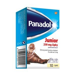 Panadol Junior 250 mg čípky 10 ks