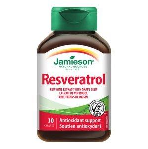 Jamieson Resveratrol 50 mg extrakt z červeného vína 30 kapslí