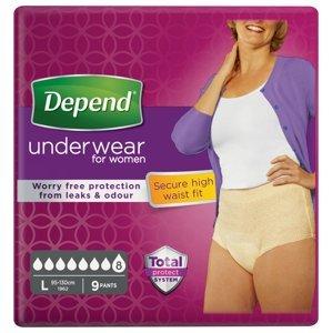 Depend Super pro ženy L natahovací kalhotky 9 ks