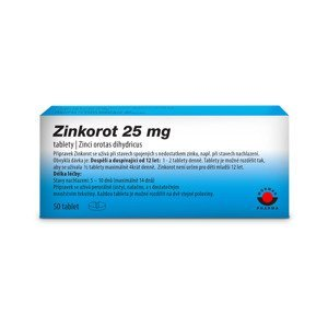 Zinkorot 25 mg 50 tablet