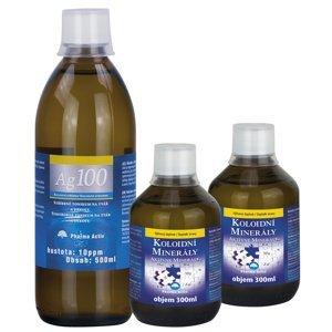 Pharma Activ Koloidní minerály 2x300 ml + Ag100 10ppm 500 ml