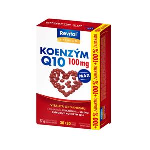 Revital Koenzym Q10 100 mg + vitamin E + selen 30+30 kapslí