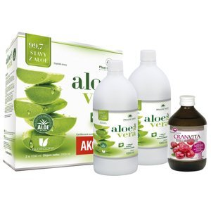 Pharma Activ AloeVeraLife aloe 99,7% 1+1 1000 ml + Cranvita 500 ml