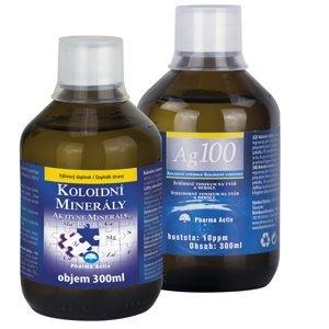 Pharma Activ Koloidní minerály 300 ml + Ag100 10ppm 300 ml