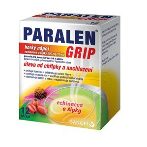 Paralen Grip Horký nápoj echinacea a šípky 12 sáčků