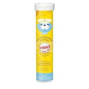 Intact Sluneční svit vitamin D3 citron 15 šumivých tablet