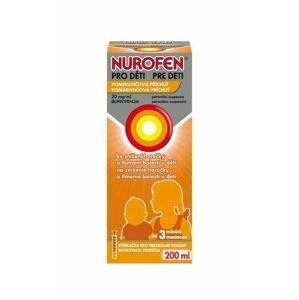 Nurofen pro děti 20 mg/ml pomeranč suspenze 200 ml