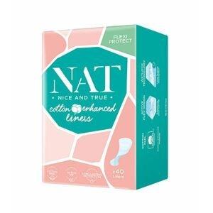 NAT nice & true Slipové vložky s bavlnou 40 ks
