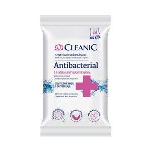 Cleanic Antibakteriální vlhčené ubrousky 24 ks