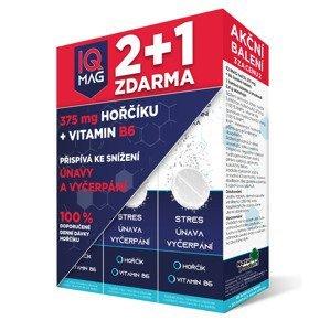 IQ Mag Hořčík 375 mg + vitamin B6 2+1 40+20 šumivých tablet