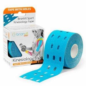 BronVit Sport Kinesio Tape děrovaný 5 cm x 5 m tejpovací páska modrá