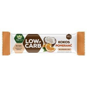 Topnatur Low Carb Tyčinka kokos&pomeranč 40 g