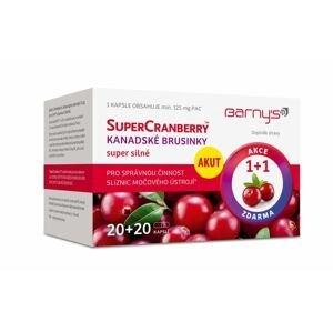 Barny´s SuperCranberry brusinky 20+20 kapslí 1+1 ZDARMA