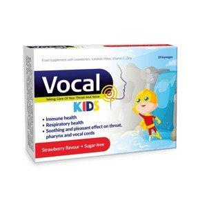 Vocal Kids Měkké pastilky s příchutí Jahody 24 ks