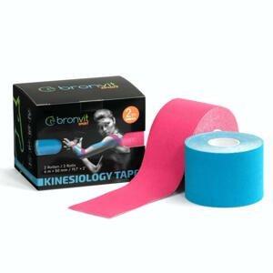BronVit Sport Kinesio Tape set 5 cm x 6 m tejpovací páska 2 ks modrá + růžová