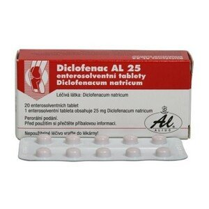 DICLOFENAC AL 25MG enterosolventní tableta 20
