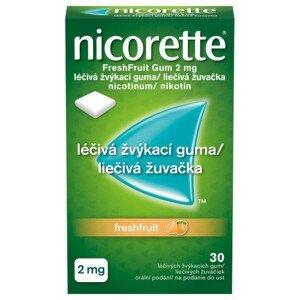NICORETTE FRESHFRUIT GUM 2MG léčivé žvýkačky 30