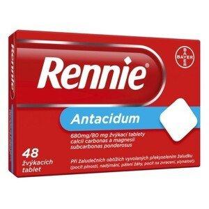 RENNIE 680MG/80MG žvýkací tableta 48