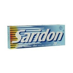 SARIDON 250MG/150MG/50MG neobalené tablety 20