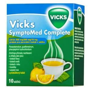 VICKS SYMPTOMED COMPLETE CITRÓN 500MG/10MG/200MG perorální PLV SOL SCC 10