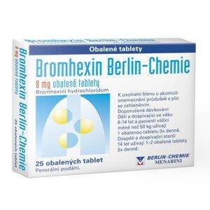 BROMHEXIN BERLIN-CHEMIE 8MG obalené tablety 25