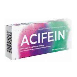 ACIFEIN 250MG/200MG/50MG neobalené tablety 10