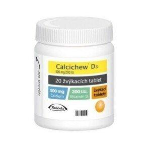 CALCICHEW D3 500MG/200IU žvýkací tableta 20