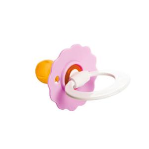 Šidítko dětské Flora s kroužk.-folie 1ks