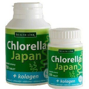 Chlorella Japan + kolagen tbl.250