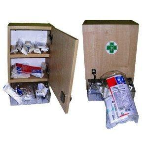 Lékárnička nástěnná dřevěná s náplní ZM20 20 osob