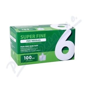 JEHLY PRO INZULÍNOVÁ PERA SUPER FINE, 6MM 31G, 100KS