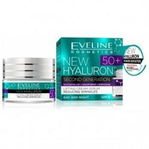 EVELINE HYALURON CLINIC 50+ Denní/noční krém 50ml