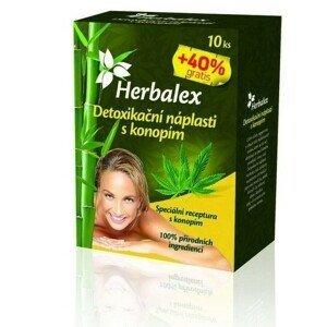 Herbalex detoxikační náplasti s konopím 10ks