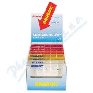 Dávkovač na léky ANABOX Denní box barevně rozliš.