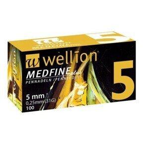 WELLION MEDFINE PLUS JEHLY PRO INZULÍNOVÁ PERA JEHLY PRO VŠECHNA INZULÍNOVÁ PERA, VEL. 31G X 5 MM