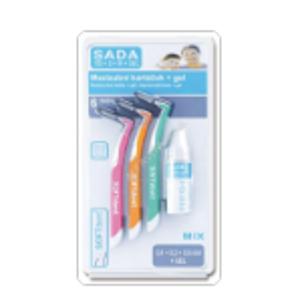 SOFTdent Mezizubní kartáček 6ks + gel