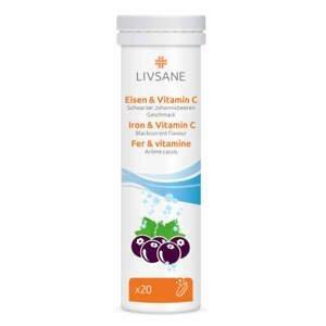 LIVSANE Šumivé tablety Železo + Vitamin C 20ks