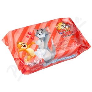 Cottonino Dětské vlhč.ubrousky Tom&Jerry jah.72ks